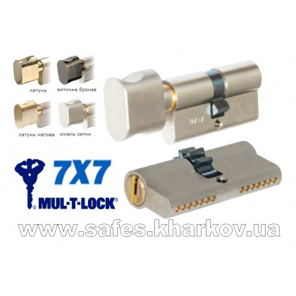 ЦИЛИНДР MUL-T-LOCK 7 Х 7 ( 54 мм ) ключ-тумблер