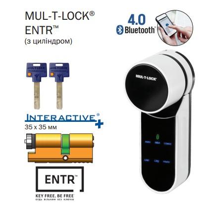 Электромеханический моторный цилиндр MUL-T-LOCK® ENTR ( с цилиндром )